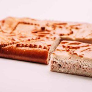 Пирог с копченой горбушей