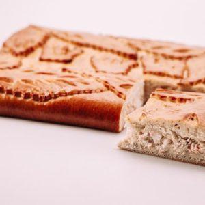 Пирог с лососем и треской